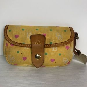 Dooney & Bourke Yellow Small Wallet w/ Hearts